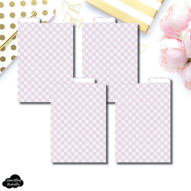 Pocket Plus Ring Dividers | Luxe Lilac 4 Top Tab Printable Dividers