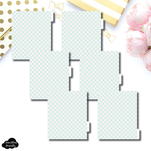 A5 Wide Ring Dividers | Luxe Mint 6 Side Tab Printable Dividers