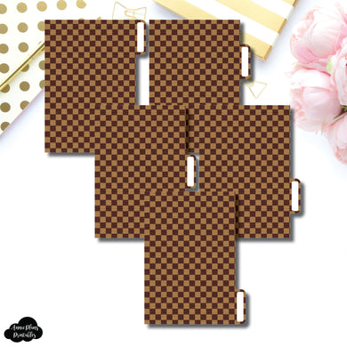Pocket Ring Dividers | Luxe Brown 5 Side Tab Printable Dividers