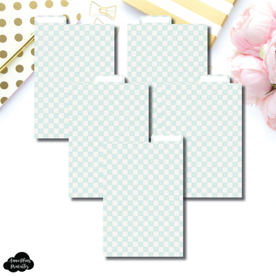 Pocket Plus Ring Dividers | Luxe Mint 5 Top Tab Printable Dividers