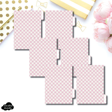 A6 Ring Dividers | Luxe Pink 6 Side Tab Printable Dividers