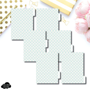 A6 Ring Dividers | Luxe Mint 6 Side Tab Printable Dividers