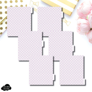 A5 Wide Ring Dividers | Luxe Lilac 6 Side Tab Printable Dividers