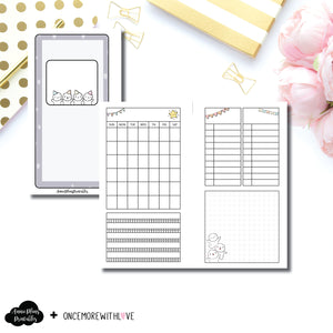 Personal TN Size | Undated Monthly OnceMoreWithLove Collaboration Printable Insert ©