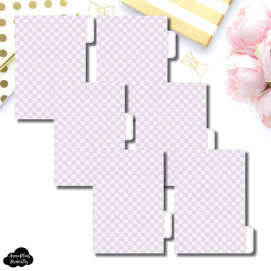 Pocket Ring Dividers | Luxe Lilac 6 Side Tab Printable Dividers
