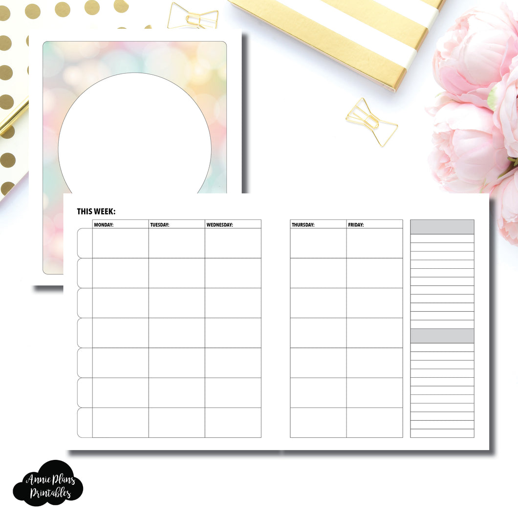 A5 Wide Rings Size | Lesson Planner Printable Insert ©