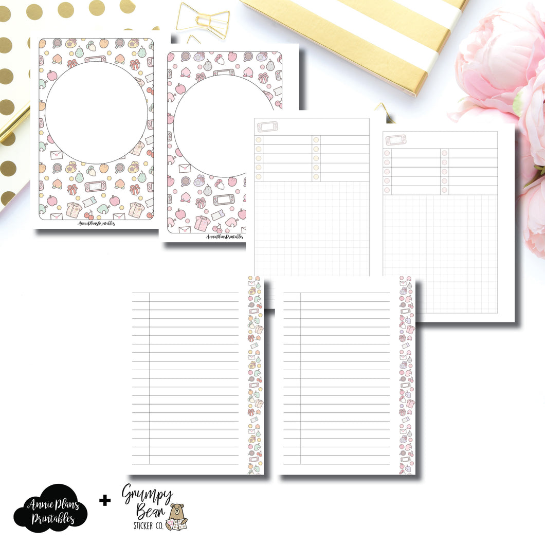 B6 Slim TN Size | Grumpy Bear AC Collaboration Printable Insert