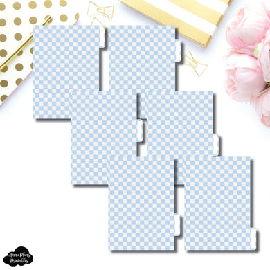 A6 Ring Dividers | Luxe Blue 6 Side Tab Printable Dividers