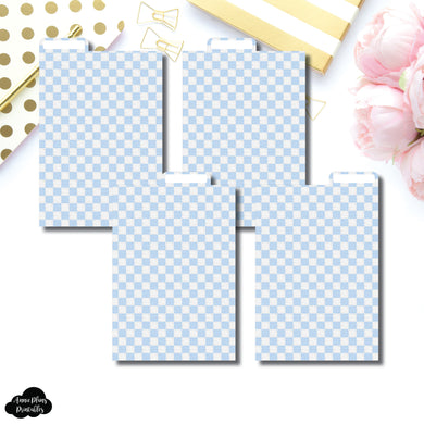 Pocket Plus Ring Dividers | Luxe Blue 4 Top Tab Printable Dividers