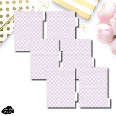 A6 Ring Dividers | Luxe Lilac 6 Side Tab Printable Dividers