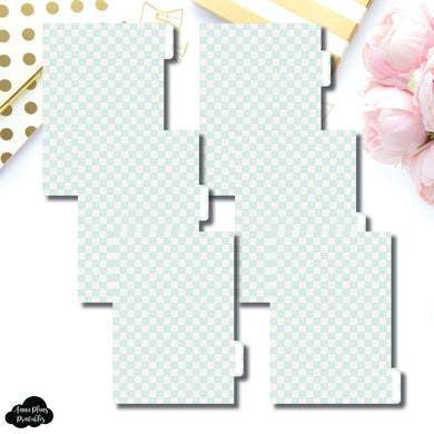 Personal Wide Ring Dividers | Luxe Mint 6 Side Tab Printable Dividers