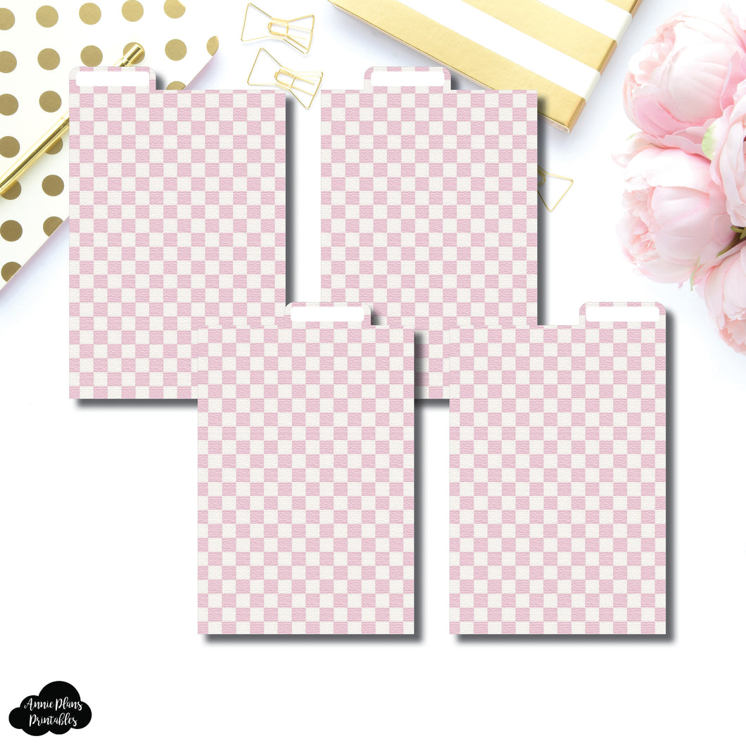Pocket Plus Ring Dividers | Luxe Pink 4 Top Tab Printable Dividers