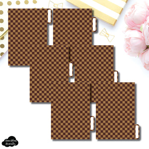 Pocket Ring Dividers | Luxe Brown 6 Side Tab Printable Dividers