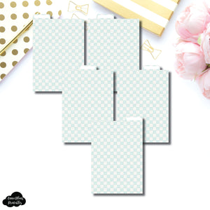 A6 Ring Dividers | Luxe Mint 5 Top Tab Printable Dividers