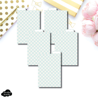 Pocket Ring Dividers | Luxe Mint 5 Top Tab Printable Dividers