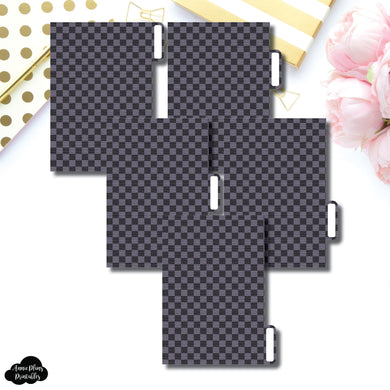 Pocket Ring Dividers | Luxe Black 5 Side Tab Printable Dividers