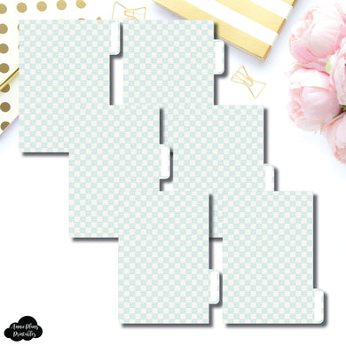 Pocket Ring Dividers | Luxe Mint 6 Side Tab Printable Dividers
