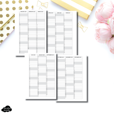 Pocket Plus Rings Size | 2021 - 2023 Important Dates Printable Insert