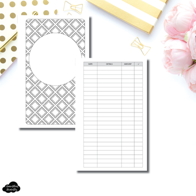 FC Rings Size | Simple Bill Tracker Printable Insert