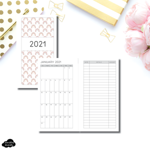 FC Rings Size | 2021 Monthly Expense Calendar Printable Insert
