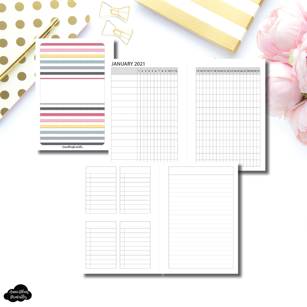 Pocket Plus Rings Size | JAN - JUN 2021 Tracker + Lists & Notes Printable Insert