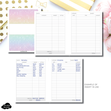 FC Rings Size | Monthly Budget Printable Insert
