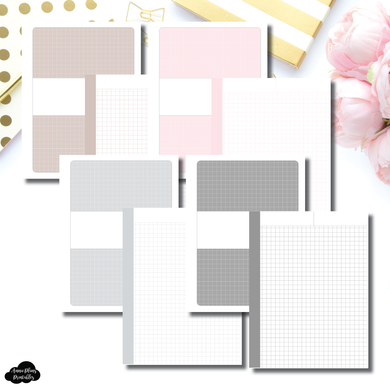 Pocket Plus Rings Size | Neutral Grid Printable Insert