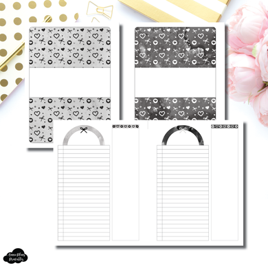 FC Rings Size | Neutral Valentines List/Notes Printable Insert