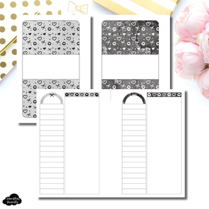 Pocket Plus Rings Size | Neutral Valentines List/Notes Printable Insert