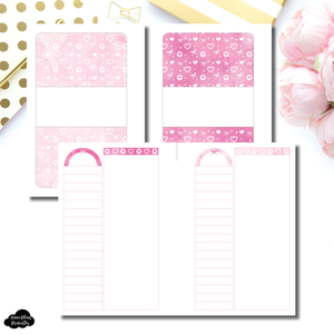 Pocket Plus Rings Size | Pink Valentines List/Notes Printable Insert