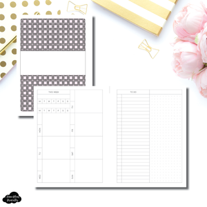 Pocket Plus Rings Size | Undated Structured Weekly With Habit Tracker + To Do List Printable Insert