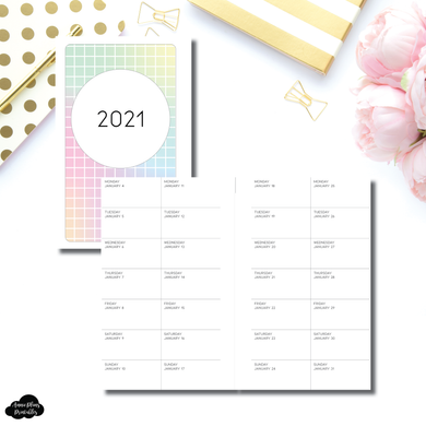 FC Rings Size | 2021 2 WEEKS ON 1 PAGE PRINTABLE INSERT