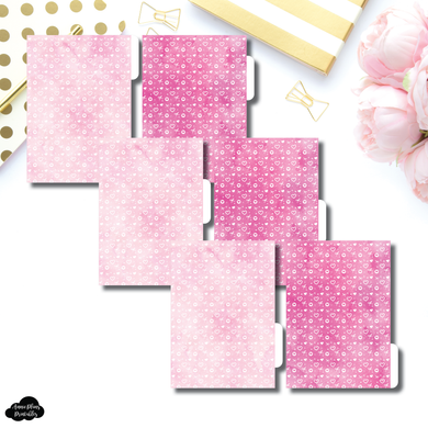 Personal Wide Ring Dividers | Valentines Themed 6 Side Tab Printable Dividers