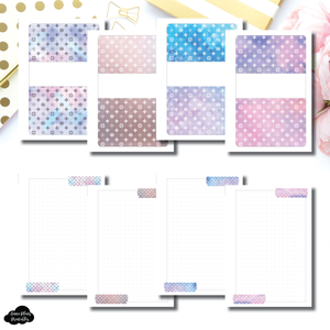 Pocket Plus Rings Size | Winter Luxe Washi Notes Printable Insert