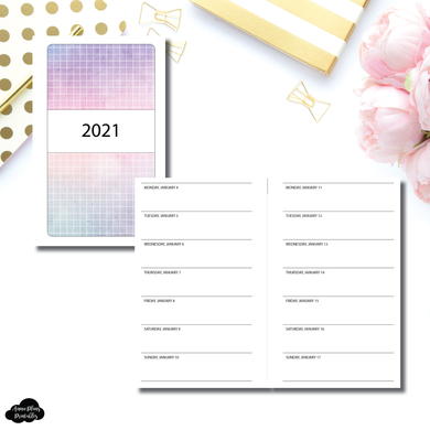 FC Rings Size |  2021 1 WEEK ON 1 PAGE PRINTABLE INSERT
