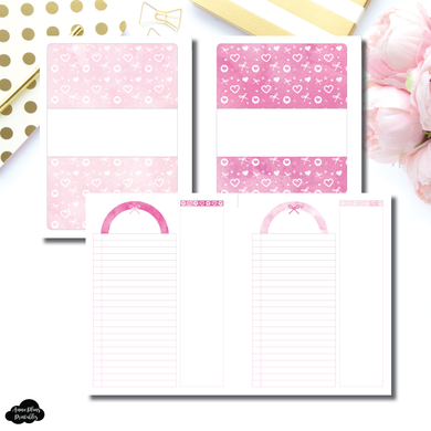 FC Rings Size | Pink Valentines List/Notes Printable Insert