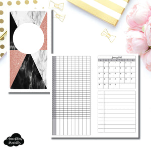 Personal Rings Size | 2018 Dated Tracker Printable Insert ©