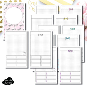 Cahier TN Size | Undated Day on a Page or Project HappieScrappie Collaboration Printable Insert ©
