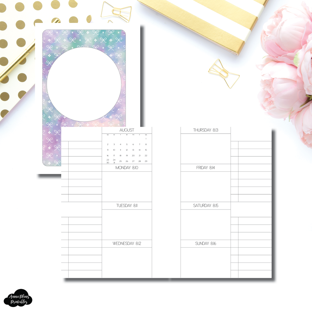 Pocket Plus Rings Size | AUG - DEC 2020 Week On 2 Pages + Lists Printable Insert