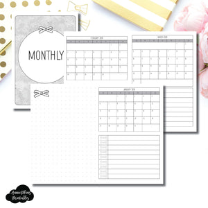 A6 TN Size | 2019 Single Page Monthly Printable Insert ©