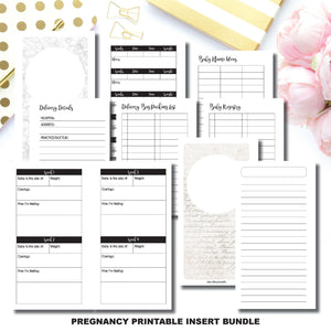 Half Letter Rings Size | Pregnancy Bundle | Printable Insert ©