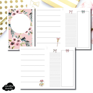 HALF LETTER RINGS Size | Undated Horizontal Week on 2 Page Collaboration Printable Insert ©