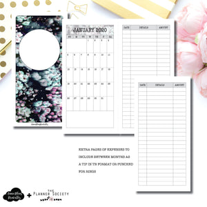 HWeeks Wide Size | LIMITED EDITION: NOV TPS Dated Monthly Expense Collaboration Printable Insert ©
