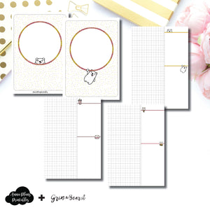 B6 TN Size | Grin & Bear It Collaboration Grid Column Printable Insert ©