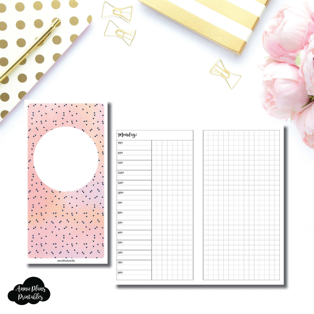 Standard TN Size | UNDATED Day on 2 Pages Printable Insert for Travelers Notebooks ©