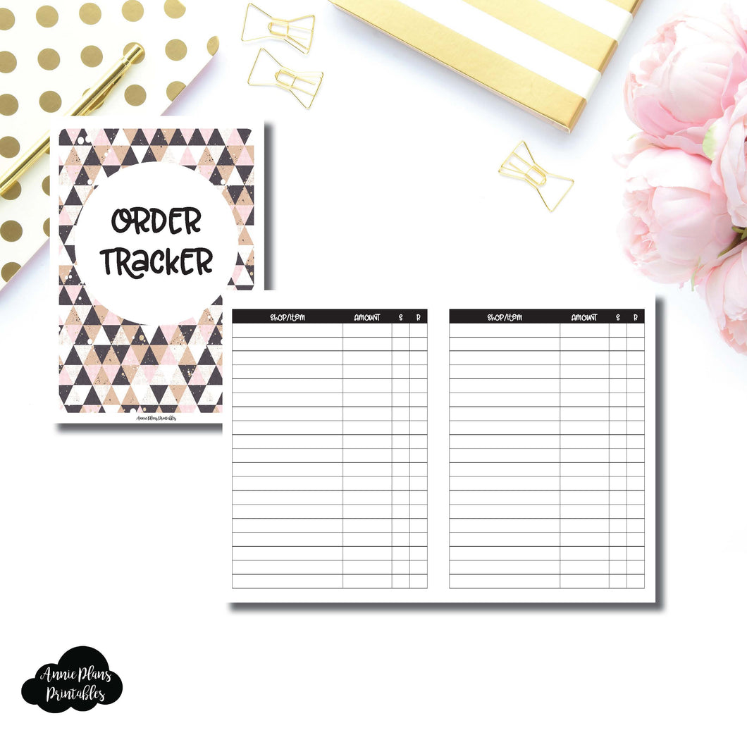 B6 Rings SIZE | Basic Order Tracker Printable Insert ©