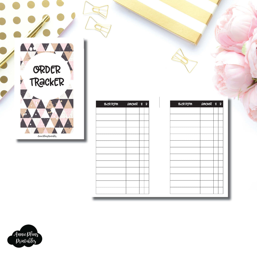 Pocket Rings SIZE | Basic Order Tracker Printable Insert ©