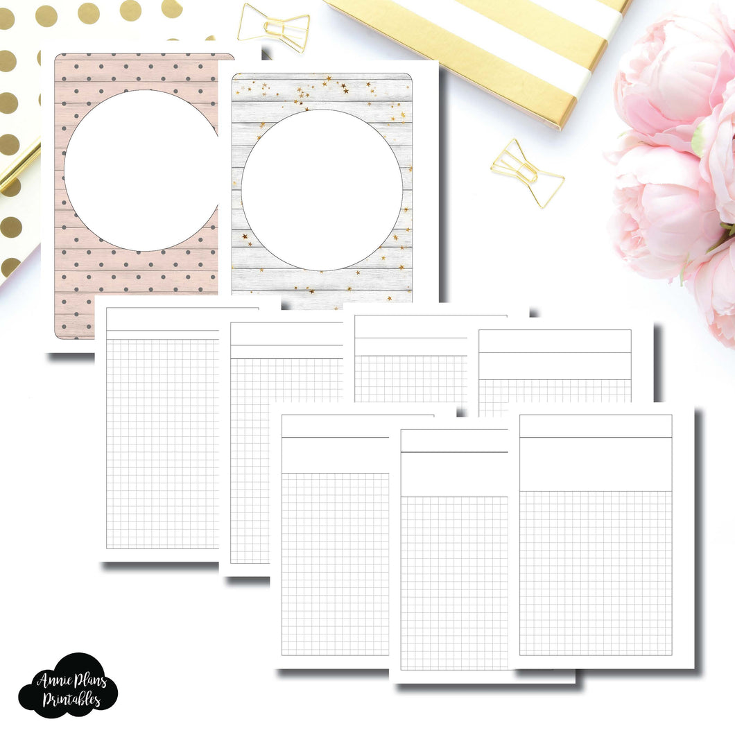 Letter Size Binder Ring Size | Washi Grid Layout Printable Insert ©