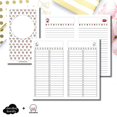 Personal TN Size | TheCoffeeMonsterzCo Collaboration Holiday Notes & Lists Printable Insert ©