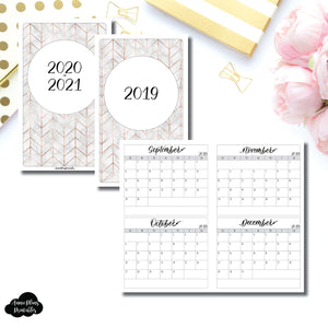 Cahier TN Size | 2019 - 2021 4 Months on 2 Pages Jeshy Park Collaboration Printable Insert ©